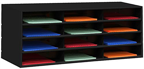 Metal paper organizer with metal build