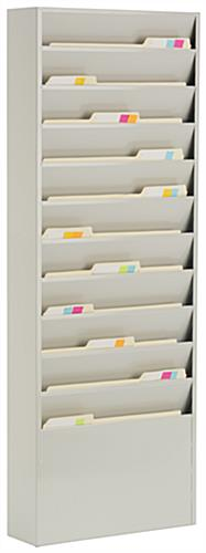 11 Pocket Steel File Rack Wall Mounted Folder Sorter