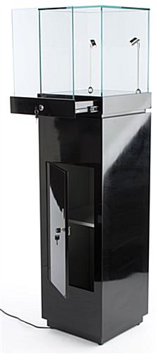 these glossy black trophy cases for sale have built in led lights to put the spotlight on your. Black Bedroom Furniture Sets. Home Design Ideas
