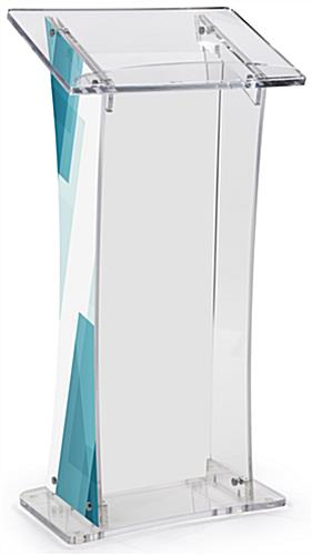 UV Modern Lectern with Custom Design & Large Surface