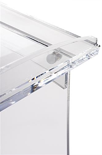 Frosted Portable Lectern with Lipped Edge