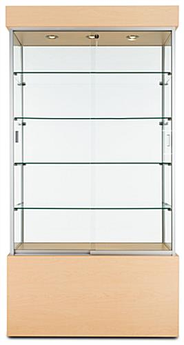 maple display cabinet