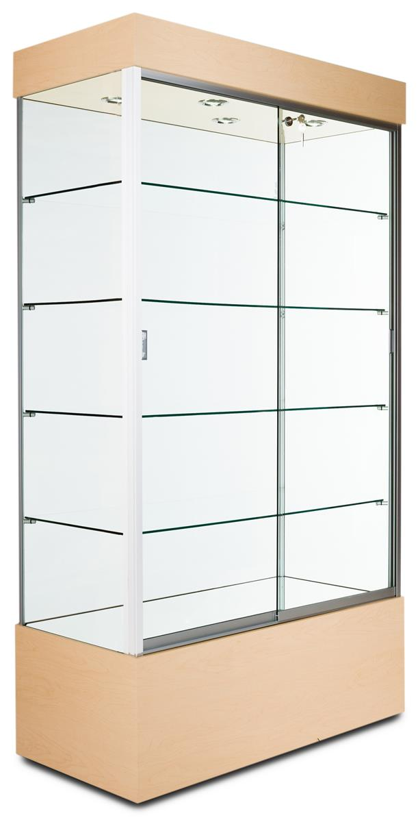 this against the wall trophy case for sale is a quick ship model these display cabinets ship. Black Bedroom Furniture Sets. Home Design Ideas