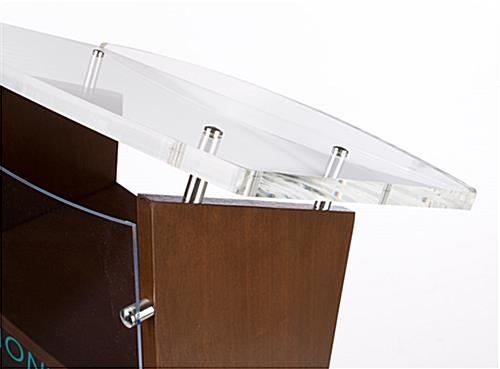 Contemporary Podium with Made-to-Order Artwork and Acrylic Reading Surface
