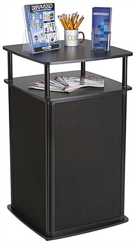 2 Shelved Locking Trade Show Counter
