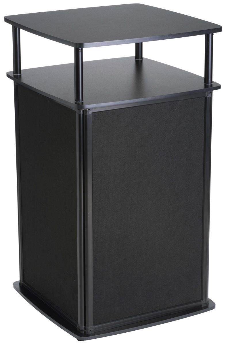 Portable Exhibition Display : Locking portable display pedestal fold up black cabinet