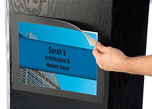 Propped Podium and Sign Holder