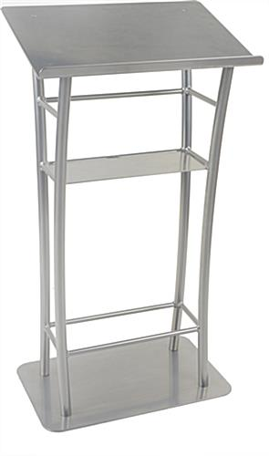 47in Tall Silver iPad Lecture Stand
