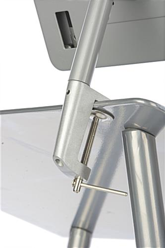 Clamping Silver iPad Lecture Stand