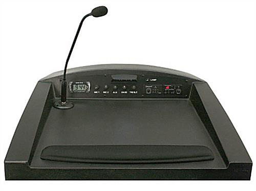 Reading Surface of Podium with Microphone Holder