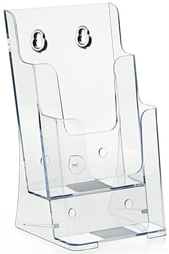 2 Step Clear Pamphlet Holder with Pre-Drilled Holes