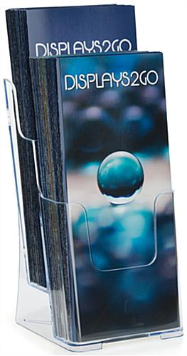 Plastic 2 Step Clear Pamphlet Holder