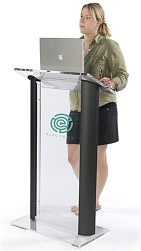 Clear & Black Lectern with 4 Rubber Feet for Grip