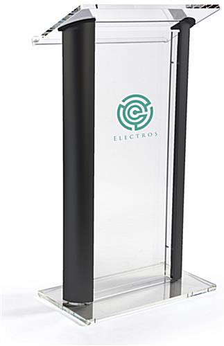 1-Color Custom Clear & Black Lectern