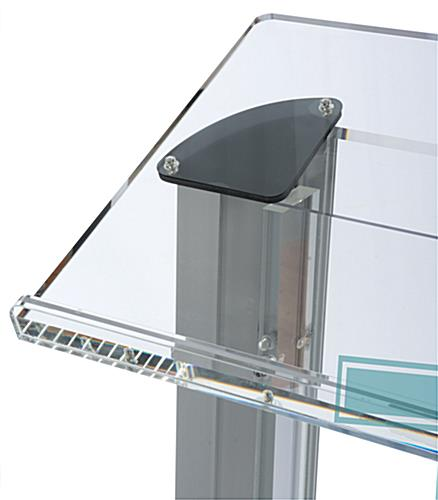 Acrylic Pulpit with Traditional Cross has a Large Reading Surface