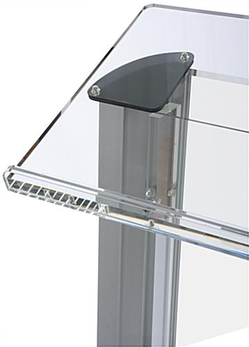 Frosted Acrylic Podium Lectern W Large Reading Surface