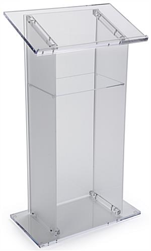 Front and Side Frosted Plexiglass Pulpit