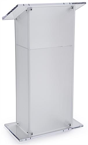 Frosted Plexiglass Pulpit with 1 Shelf