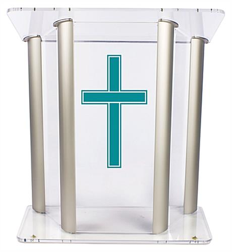 Wide Pulpit with Traditional Cross for the Ultimate Church Display