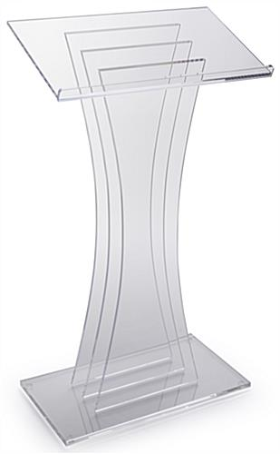 3 Vertical Panels Clear Acrylic Lectern