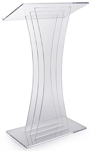 Clear Acrylic Lectern with Sleek Panels