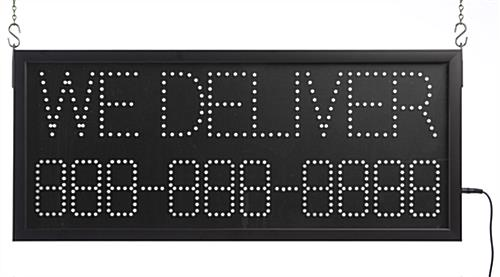 professional delivery LED sign