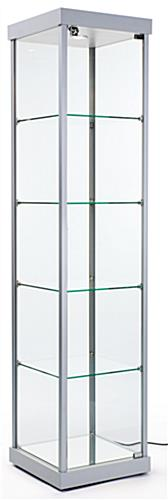 "Illuminated Tower Display Cabinet, 17"" Shelf Width"