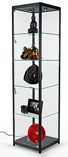 Black Modern LED Display Tower