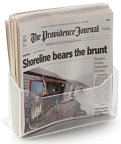 Lucite Newspaper Display with Single Pocket