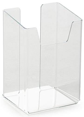 Clear Extra Deep Pocket Brochure Holder