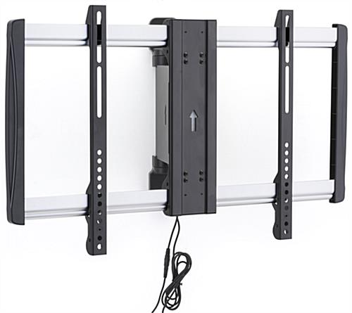 Electric pan screen mount holds 32 60 widescreens for Motorized tv wall mount reviews