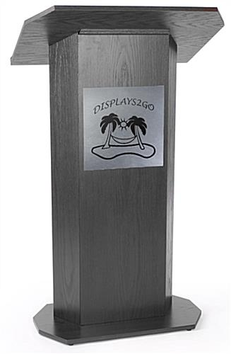 Self-Adhesive, 1-Color Custom Silver Panel for Lecterns
