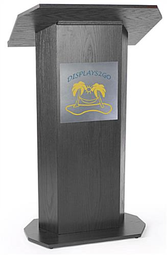 2-Color Custom Silver Panel for Lecterns with Double-Sided Adhesive Tape