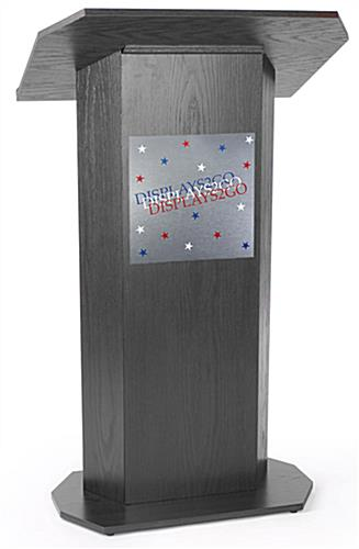 3-Color Custom Silver Panel for Lecterns with Brushed Aluminum Finish