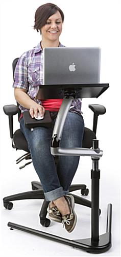 Articulated Computer Stand : Articulating laptop desk computer work station
