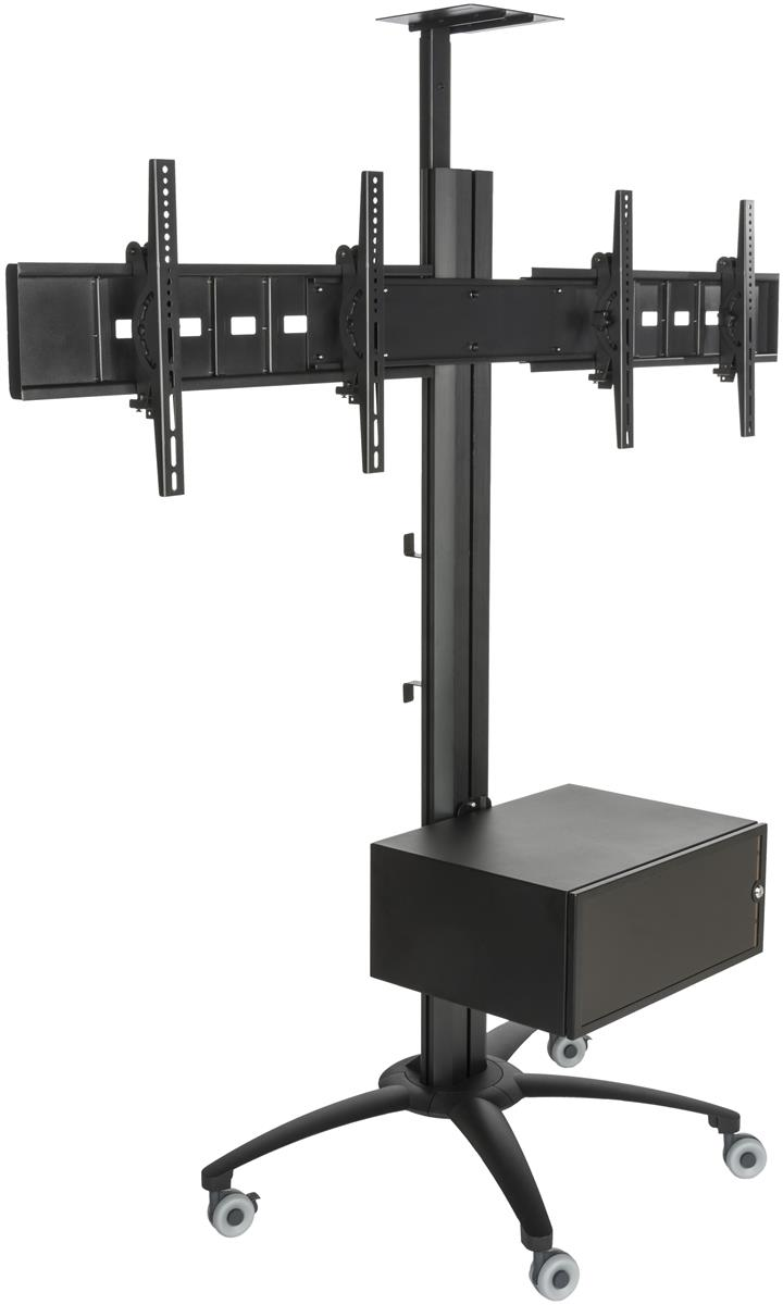 Dual commercial tv stand 30 60 flat screens for Stand commercial