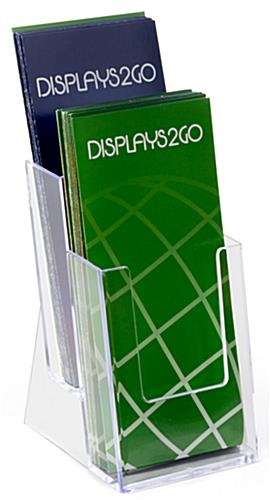Tiered Moulded Plastic Brochure Rack