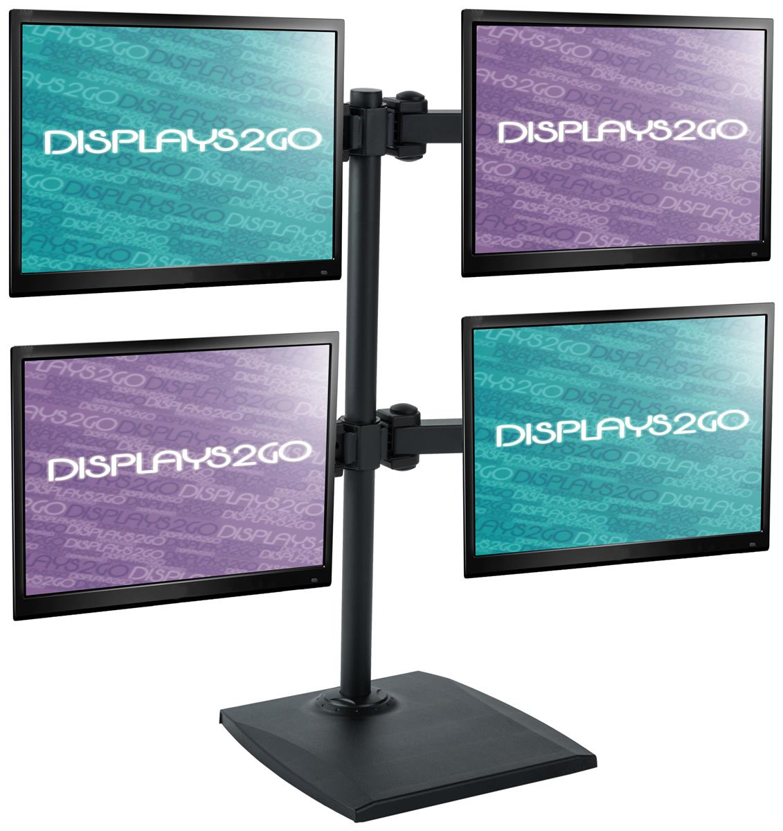 4 Screen Monitor Stand Height Adjusting Desktop Display