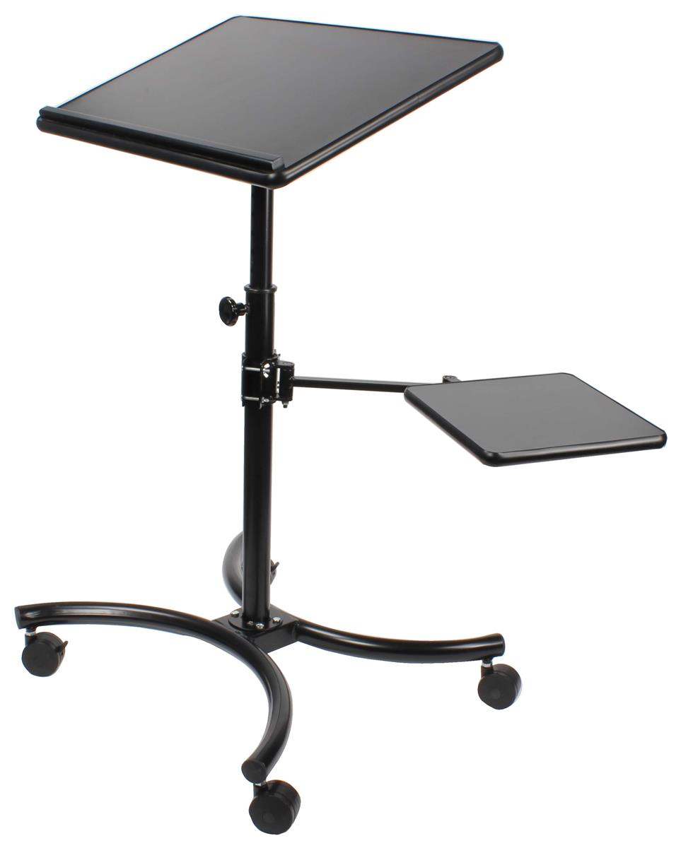 This Mobile Computer Stand Has 4 Casters This Display