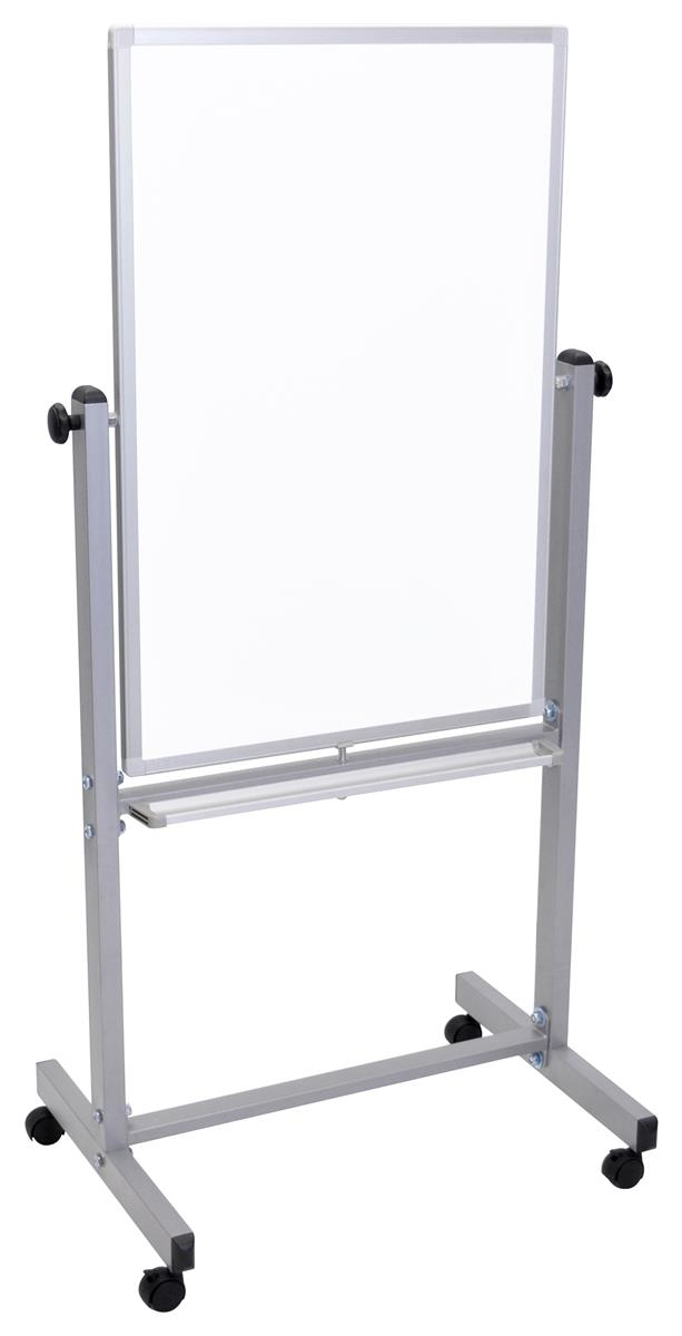 Vertical Whiteboard With Wheels Dry Erase Magnetic Surface