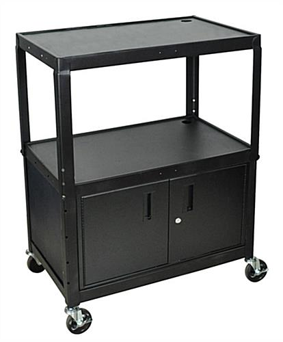 This Multi Media Cart is Easy to Manuever! The Rolling Caster ...