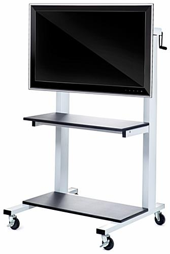 Monitor Display With Wheel Industrial Presentation Stands