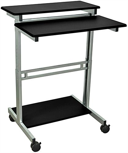 Steel Adjustable Sit Stand Workstation