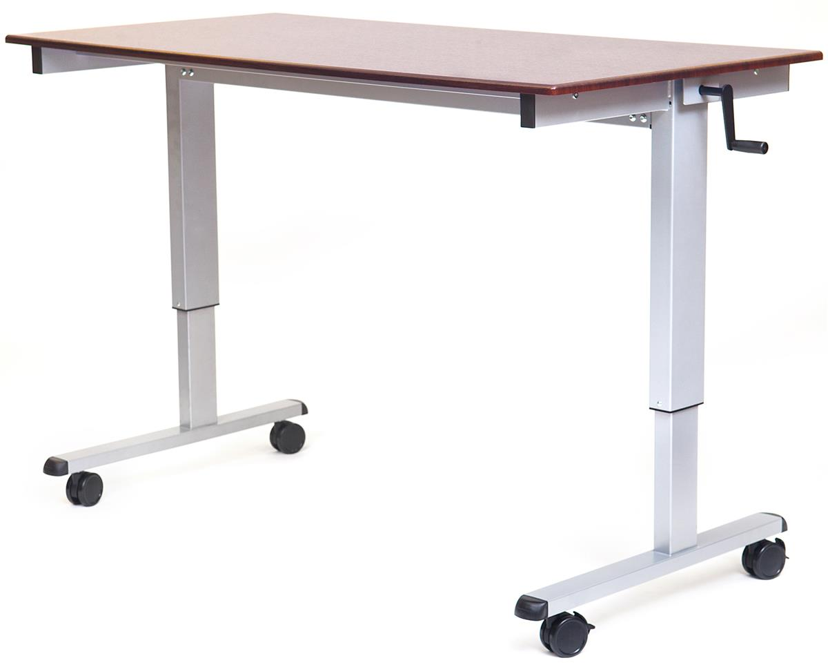 "Computer Table w/ Crank Lever | Height Adjustable 29""- 42.75"""