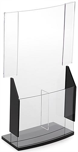 Acrylic Convex Sign Holder & Brochure Display