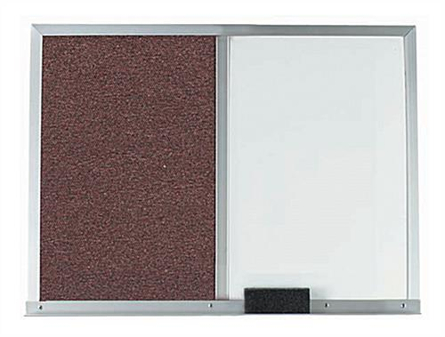Dry Erase Marker Board with Dual Surfaces