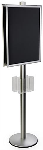 6' Tall 22x28 Dual Frame Stand with Acrylic Pockets