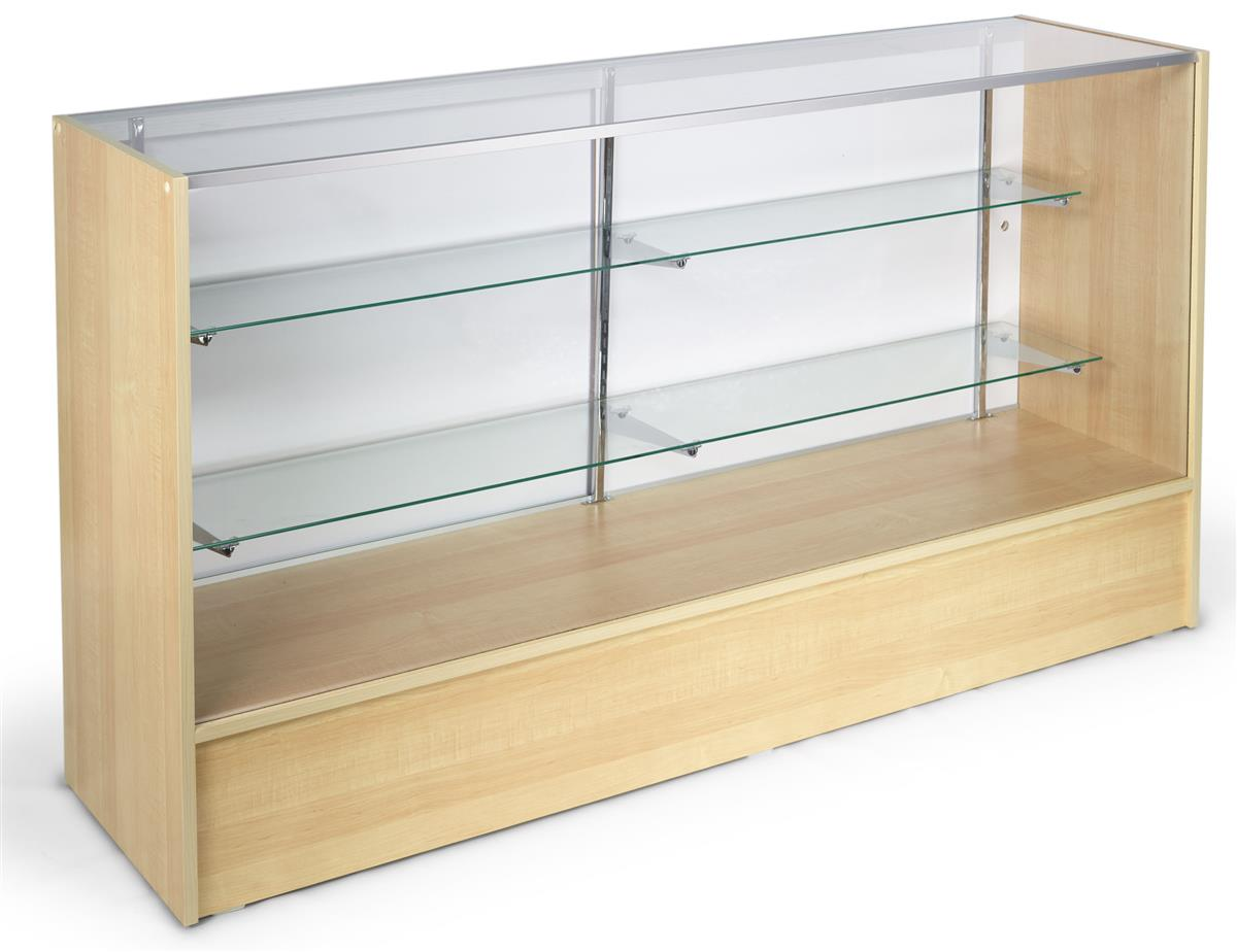Store Display Case Maple Counter With Tempered Glass