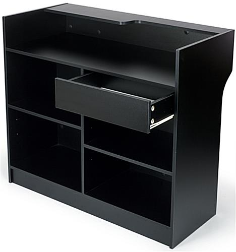 "Register Stand: 48"" w/Ledgetop Counter, Black Melamine"
