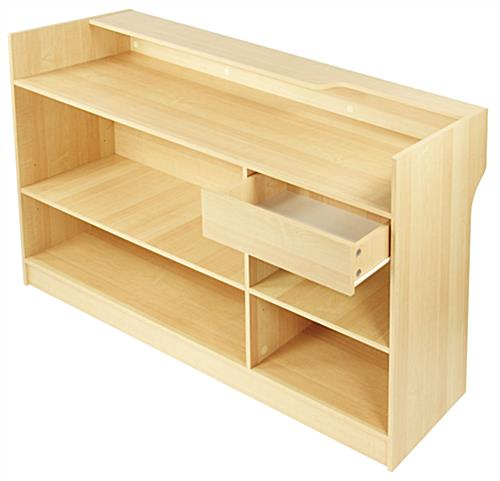 "Retail  Sales Counters: 72""W Ledgetop - Maple Melamine"